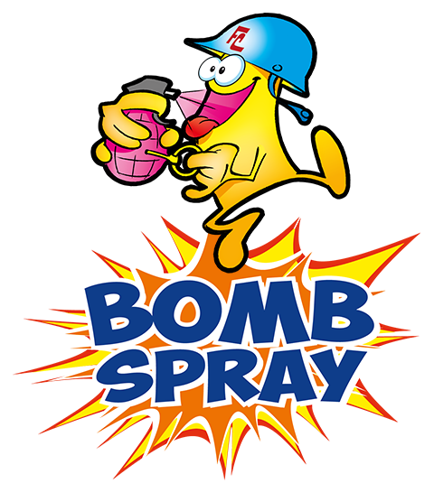 logo bomb spray