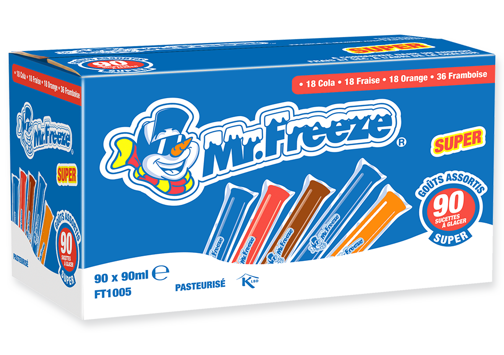 Carton Mr Freeze Super Assortis 90ml